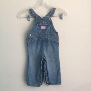 OshKosh Vestbak Denim Overalls Girl Size 18 months